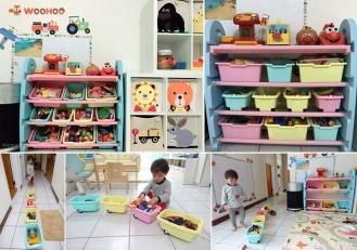 WOOHOO兒童玩具收納櫃‧讓孩子從玩樂中養成收納分類的好習慣