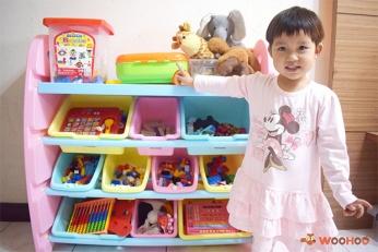 ♥ 遊戲中學習收納~WOOHOO繽紛馬卡龍MIT玩具收納櫃開箱
