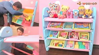 糖媽收納的好幫手 糖糖姐弟遊戲房大改造我們都愛「 WOOHOO兒童玩具收納