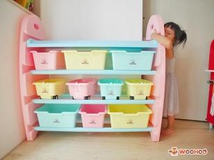 【啾團】發揮小腦袋的無限想像力,安全的玩,快樂的收-WOOHOO兒童玩具收納櫃